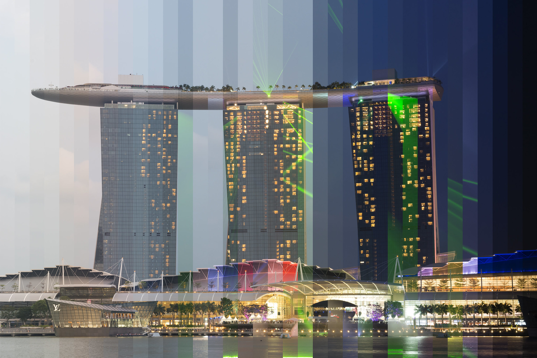 """Time Slice"" Marina Bay Sands, Singapore"