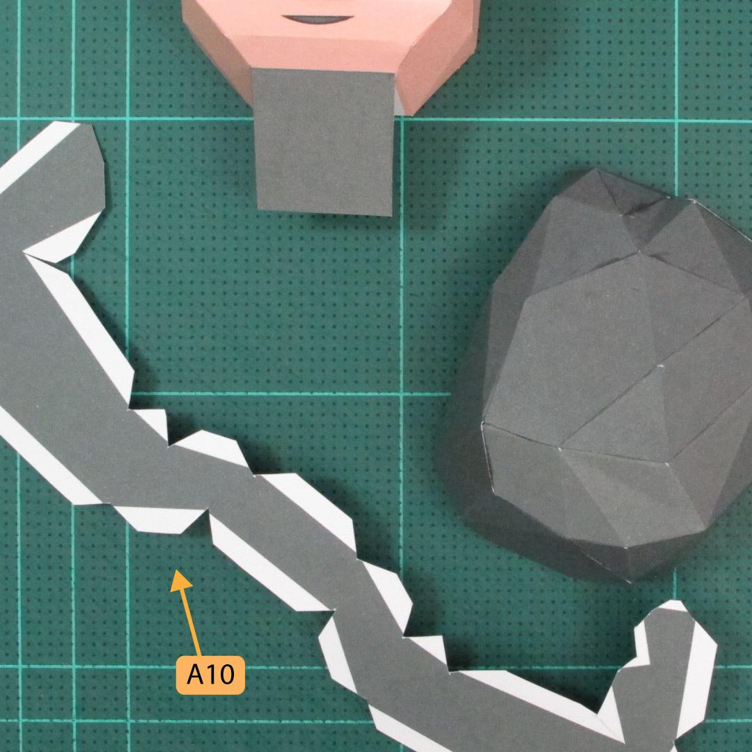 วิธีทำของเล่นโมเดลกระดาษซุปเปอร์แมน (Chibi Superman  Papercraft Model) 015