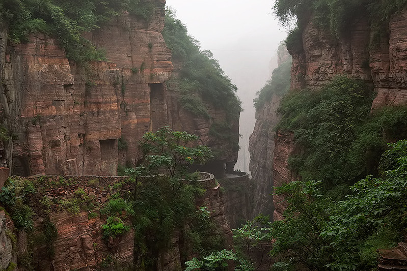 Guoliang tunnel road, Henan Province, China.
