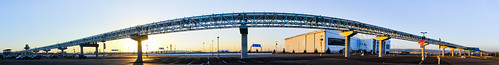 california sunset summer panorama color yellow oakland airport oak nikon parking bart large lot august panoramic eastbay stitched alamedacounty oac 2014 guideway oaklandinternationalairport d700