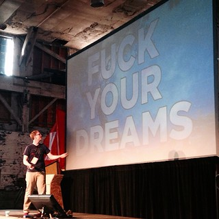 Hank Green would like to about your dreams. #xoxofest | by ekai