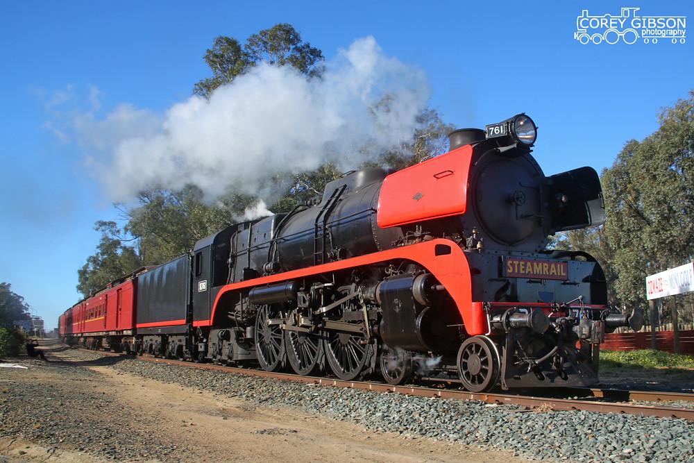 Echuca 150th Celebrations Steam Shuttles - R761 by Corey Gibson