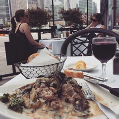Lunch, streetside, in Chi-town with lamb fricasse. # enjoying #Chicago for the day