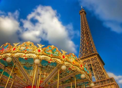carousel | eiffel tower. | by alyssaBLACK.