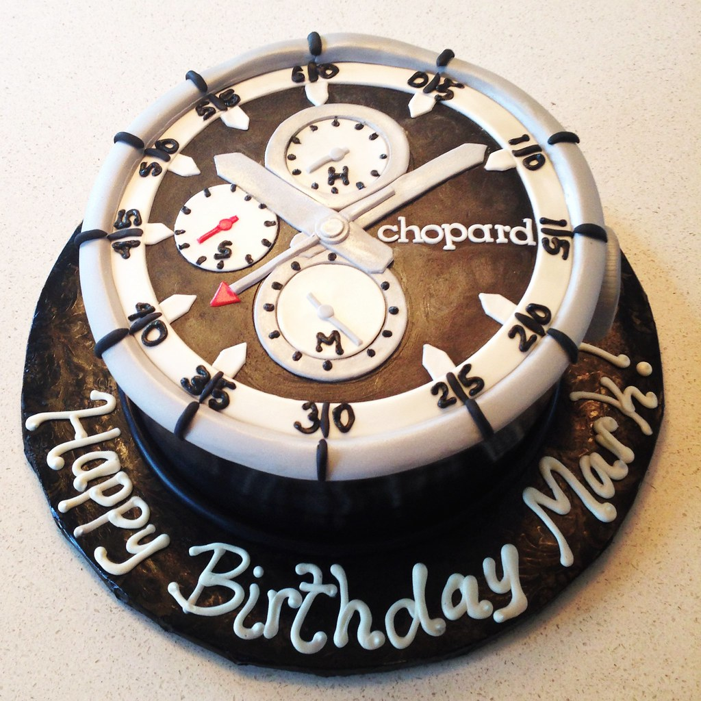 Stupendous Chopard Watch Birthday Cake Cakegirlkc Flickr Personalised Birthday Cards Arneslily Jamesorg