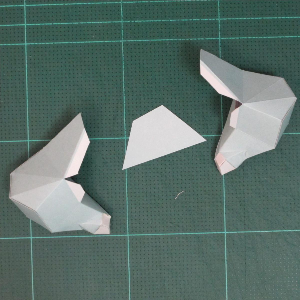 วิธีทำโมเดลกระดาษคุกกี้รันจิ้งจอกเก้าหางในร่างหมาจิ้งจอก (Cookie Run Ninetails Fox Form Papercraft Model) 014