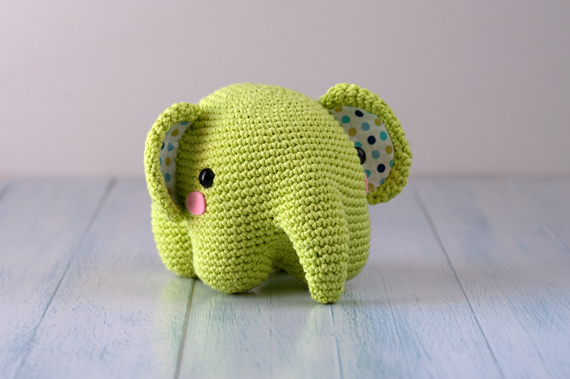 Crochet Pattern - Elephant Nina | Ganchillo con elefante, Patrón ... | 533x800
