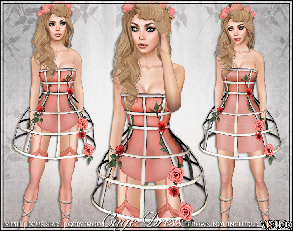 [Wishbox] Cage Dress (Coral)
