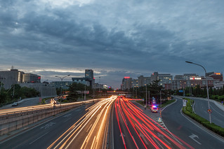 Traffic on the Second Ring Road at Dusk | by pamhule