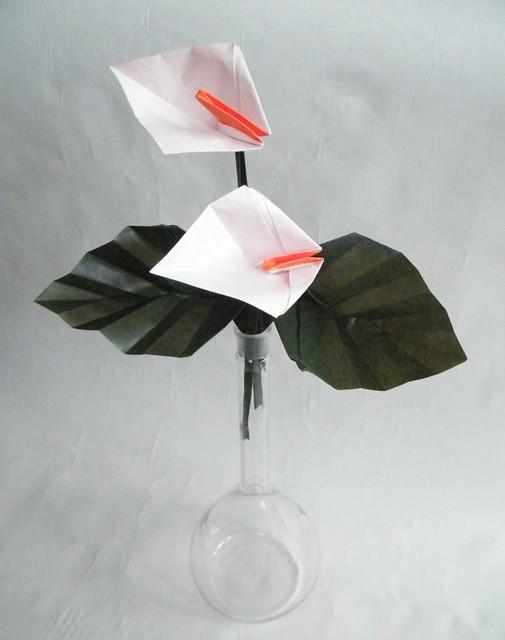 Peacelily and Leaf - Meenakshi Mukerji