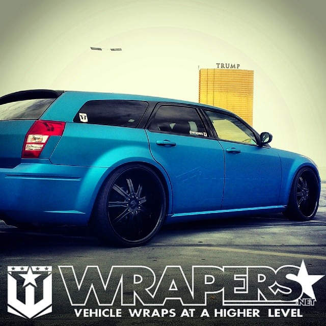 07 Dodge Magnum Wrapped In Avery Lagoon Blue Matte Metalli Flickr