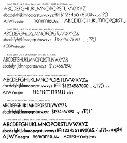 Monotype Sans Serif | by Stewf