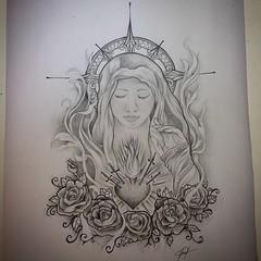 Exif Tattoo Tatuagem Art Arte Avemaria Blackandgrey