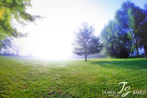 app grass beautiful fog jamiesmed handyphoto field blue 2014 iphoneedit rokinon snapseed sky sunrise sun rural lens trees tree prime fixed skies manual focus light geotagged geotag wide angle landscape summer september fisheye ohio midwest canon eos dslr 500d t1i rebel photography clintoncounty smalltown usa country facebook park