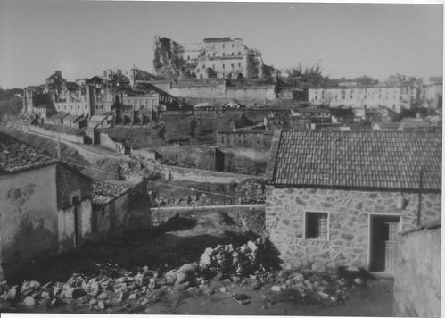 Alcázar visto desde el Barrio de San Blas hacia 1940