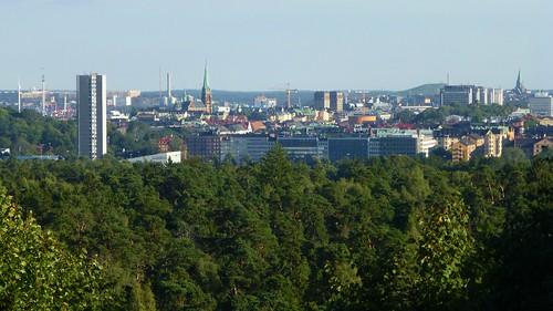 view sweden stockholm utsikt solna hirise wennergrencenter höghus frösundakullen