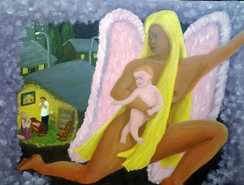 "Crib-Death Consolation (Oil on wood panel, 18""x24"") | by PastorDavidRN"
