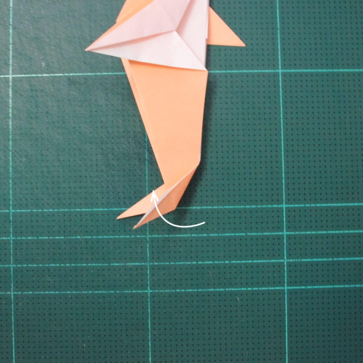 วิธีพับกระดาษเป็นรูปปลาโลมาแบบง่าย (Easy Origami Dolphin) 018