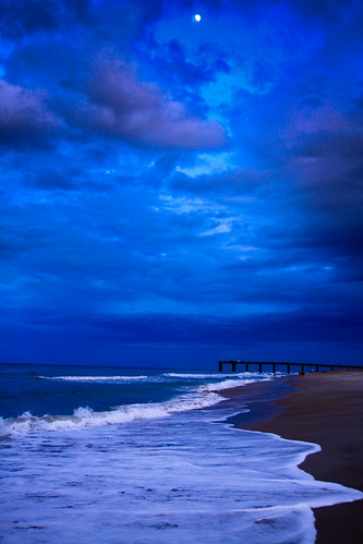 ocean sunset moon seascape storm beach clouds waves florida moonrise atlanticocean staugustine peer staugustinepeer