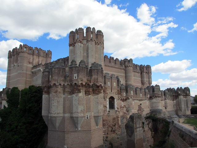 Coca Castle from the northwest, Spain