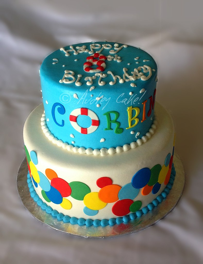 Pleasing Pool Party Birthday Cake This Fun And Colorful Cake Made A Flickr Funny Birthday Cards Online Inifodamsfinfo