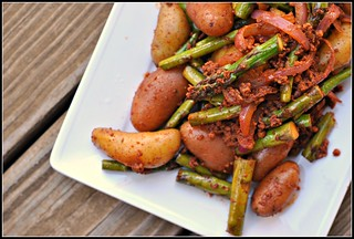 Smoky Potatoes with Asparagus and Chorizo 3 | by preventionrd