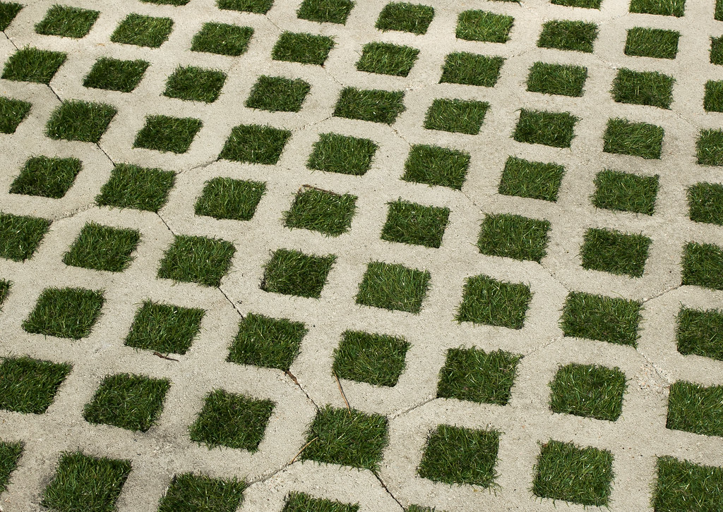Grass and Concrete Driveway pattern   Dominick Guzzo   Flickr