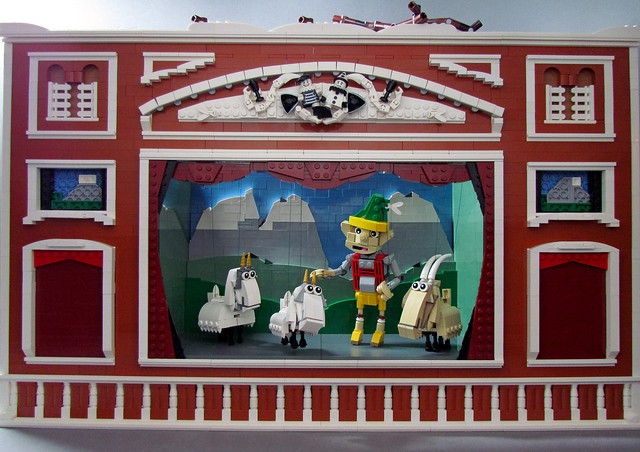 The Lonely Goatherd-puppet show