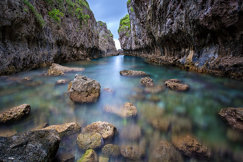 sea seascape rock landscape cliffs chasm niue matapa