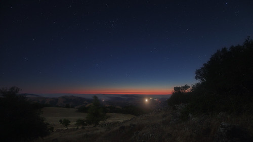 california sky night stars landscape evening twilight clear marincounty novato mountburdell