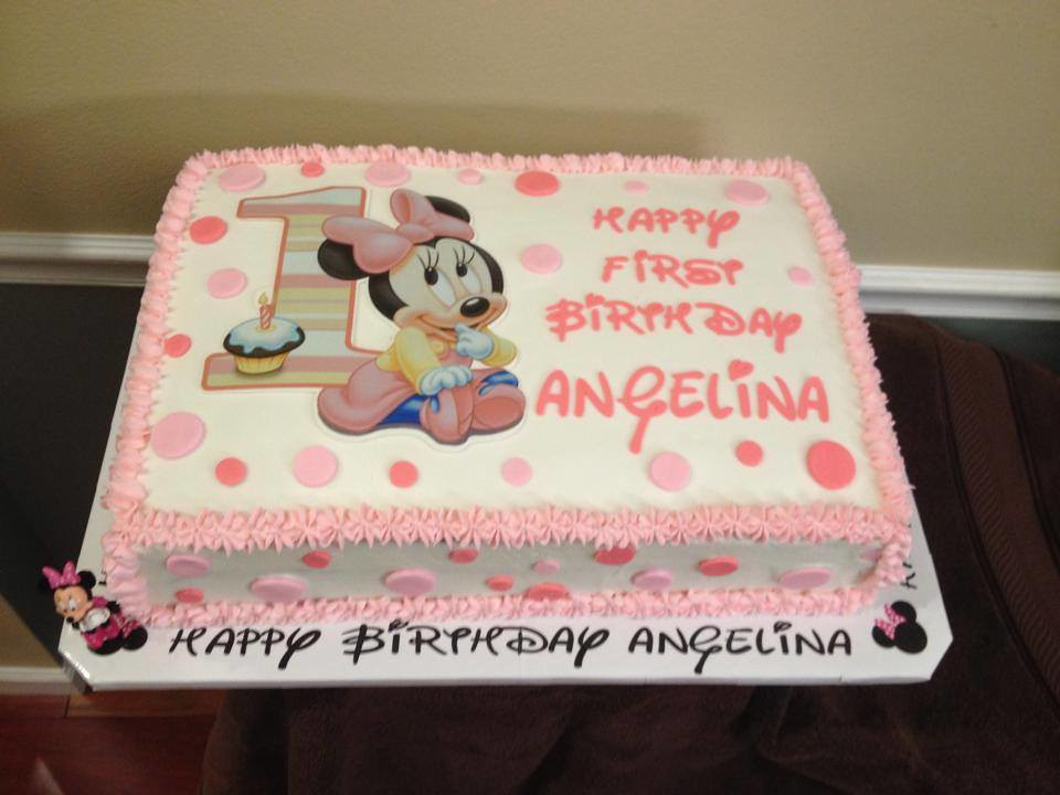 Stupendous Minnie Mouse First Birthday Cake Lady Wpb Flickr Funny Birthday Cards Online Alyptdamsfinfo