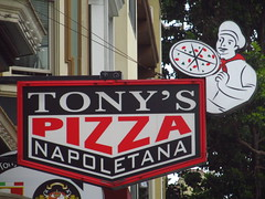 Tony's Pizza Napoletana sign