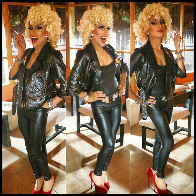 ShirleyStonyrock #Drag #DragQueen #serving #Sandy #Grease