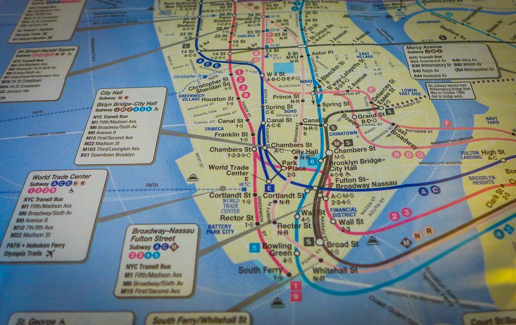 Chelsea Subway Map.The Subway Map From My Pre 9 11 Years In Nyc Never Forget Flickr