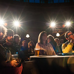 Attentive audience in our Guardian Spiegeltent |