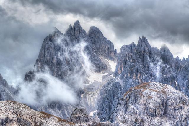 Tre Cime di Lavaredo - A Break In The Clouds
