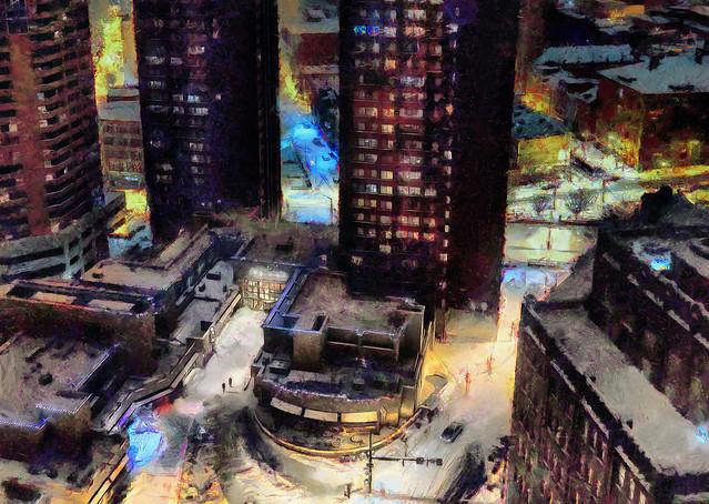 Winter City Nightscape