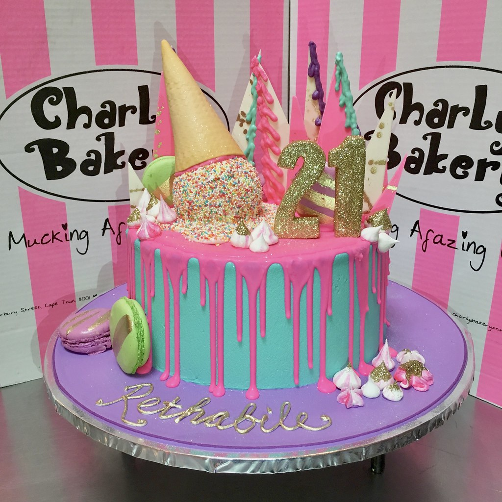Awesome Single Tier Unbirthday Inspired 21St Birthday Cake Iced In Flickr Funny Birthday Cards Online Bapapcheapnameinfo