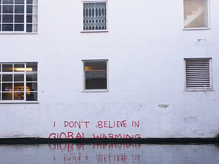 """I don't believe in Global Warming"": Climate change denial by #Banksy 