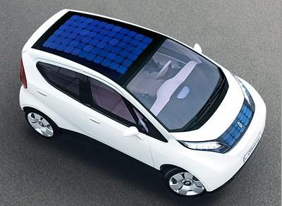 Solar Panel on Pininfarina Blue Car