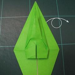 วิธีพับกระดาษเป็นรูปหอยทาก (origami Snail) 011