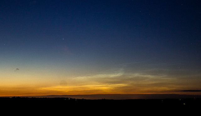 Noctilucent Clouds from Oxfordshire around 11pm 13/07/14