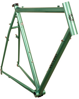 Gunnar CrossHairs in Shamrock Green w/ Black Bullseye Decals- Front view | by Gunnar Cycles