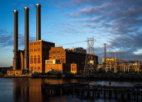 ri sunrise river dawn industrial providence wires electricity powerplant powerstation goldenhour