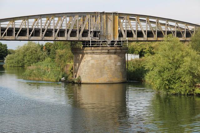 Sharpness Docks August 2014 old railway swing bridge a