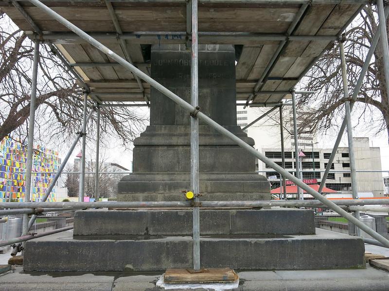 Godley statue plinth