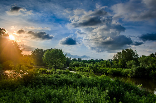 sunset sky sun tree mill nature creek river 1 evening exposure cloudy trail wetlands hdr youngstown evenning