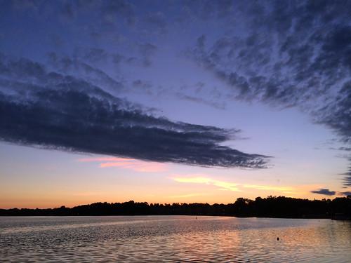 morning lake clouds sunrise illinois lakecounty wauconda bangslake