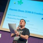 Darren Shan on stage at the 2014 Edinburgh International Book Festival |