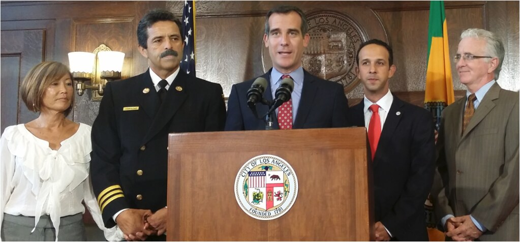 Mayor Garcetti Introduces LAFD Fire Chief Ralph Terrazas